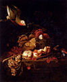 Bogdány Still Life Of Grapes, ...Resting On A Table With A Parrot.jpg