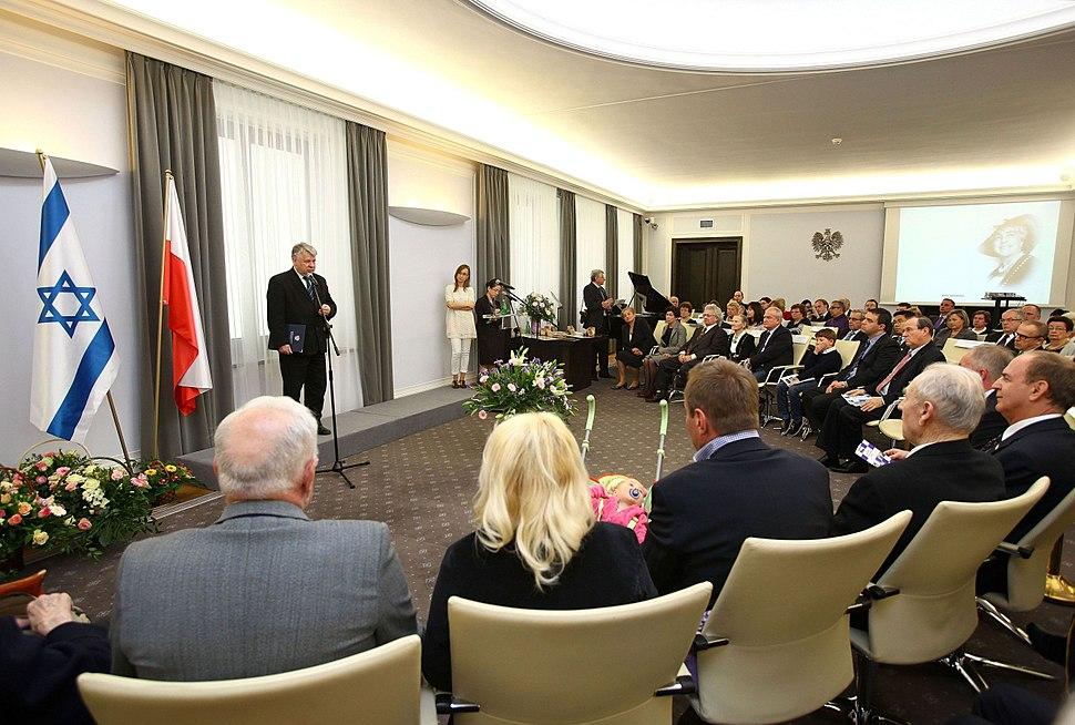 Bogdan Borusewicz Ceremonia wręczenia medali Sprawiedliwy wśród Narodów Świata Senat RP 2012