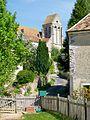 Borest (60), l'église St-Martin vue depuis la rue de la fontaine St-Martin.jpg