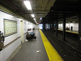 Franklin Avenue/Botanic Garden (New York City Subway) - Northbound platform