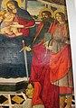 Bottega del ghirlandaio, madonna col bambino, santi e il donatore roberto folchi, 1490-1510 ca. 03.JPG