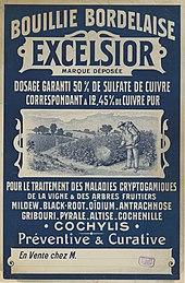 Traitement de la vigne wikimonde for Bouillie bordelaise piscine