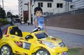 Boy with his plastic Mercedes in a gated community in Bangalore.tif