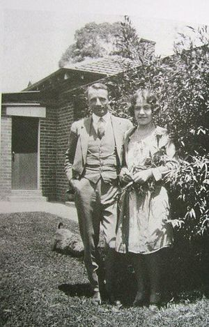 Don Bradman with his wife