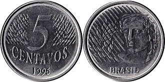 Brazilian real - Image: Brazil R$0.05 1995