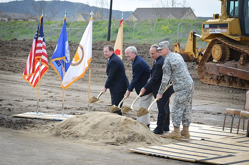 File:Breaking ground at Camp Parks (8538445914).jpg