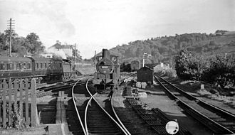 Brecon and Merthyr Tydfil Junction Railway - East end of Brecon station in 1949