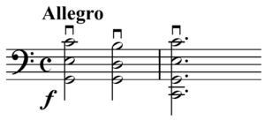 Double stop - Image: Breval Sonata cello double stops