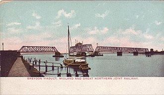 Breydon Viaduct - Postcard from the early 1900s