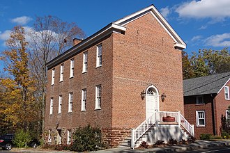 National Register of Historic Places listings in Somerset County, New Jersey - Image: Brick Academy, Basking Ridge, NJ, south view