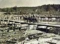 Bridge construction, Austro-Hungarian troops at war, 1916, WWI (32651870624).jpg