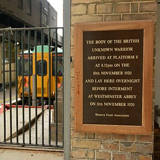 The Unknown Warrior - Image: British Unknown Warrior Plaque