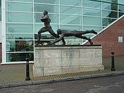 Bronze Statue Northampton RFC