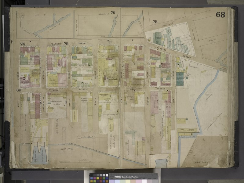 File:Brooklyn, Vol. 4, Double Page Plate No. 68; (Map bounded by Meserole Ave., Gem St., Franklin St., North 15th St., East River, Kent St., Green Point Ave; Including Milton St., West St., Noble St., Oak NYPL1695435.tiff