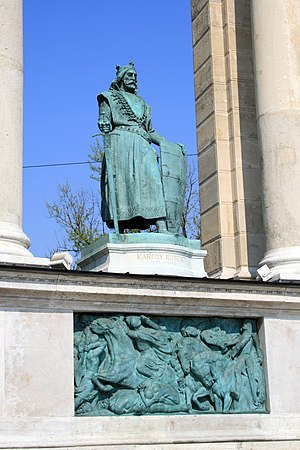 Statue of Charles I of Hungary or Károly Rober...