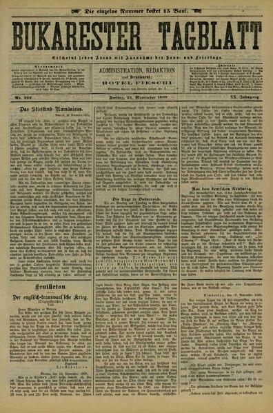 File:Bukarester Tagblatt 1899-11-24, nr. 264.pdf