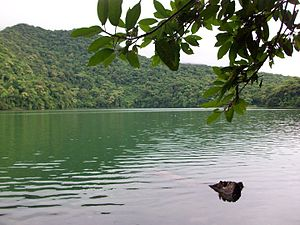 Sorsogon - Bulusan Lake on the slope of Bulusan Volcano National Park