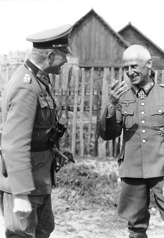 Hermann Hoth - Hoth (right) with Heinz Guderian, commander of Panzer Group 2, 21 June 1941