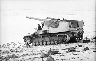 Hummel (vehicle) - A Hummel in Russia, January 1944