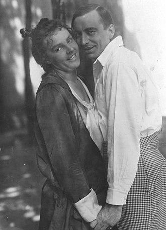 Curt Goetz - Curt Goetz with Leopoldine Konstantin (1917)