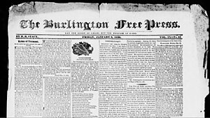 "The Burlington Free Press - The original motto of the Burlington Free Press was ""Not the glory of Caesar, but the welfare of Rome""."