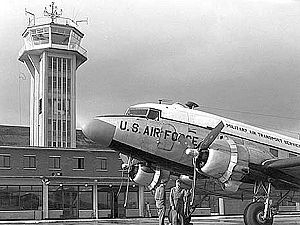 RAF Burtonwood - Airfield control tower and MATS Facility 1954