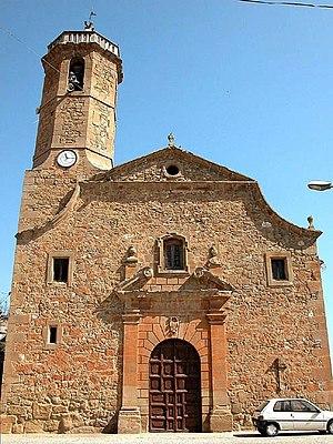 Montgai - Image: Butsènit d'Urgell, Montgai, la Noguera. Església s XVIII (A Si T D5393)