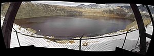 Berkeley Pit - Composite Fisheye View of the Berkeley Pit, April, 2005.