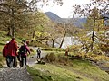 Buttermere - walkers on the lakeshore path - geograph.org.uk - 1562761.jpg