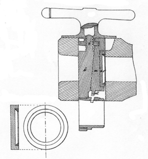 C64 (field gun) - Section through the closure of a double wedge C64