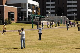 University of Alabama at Birmingham - Students relaxing on Campus Green