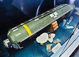 Bomba de racimo CBU-87 utilizada en la agresión de la OTAN en Yugoslavia - la bomba caducó durante 2 años