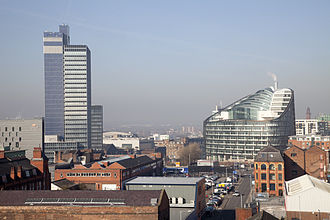 The Co-operative Group - CIS Tower and One Angel Square in Manchester.