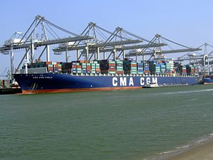 CMA CGM Fidelio IMO 9299642 , at the Amazone harbour, Port of Rotterdam, Holland 01-Apr-2007.jpg