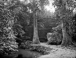 Tuban - Cave in Rengel village, Tuban during Dutch colonial period. 1900-1940.