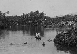 Labuha - Children swimming in the vicinity of Labuha in the 1930s