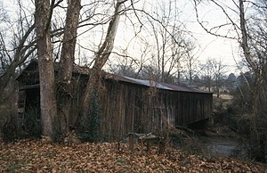National Register of Historic Places listings in Franklin County, Georgia - Image: CROMER'S MILL COVERED BRIDGE