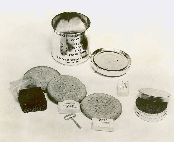 File:C Ration B unit (1941) with contents.jpg