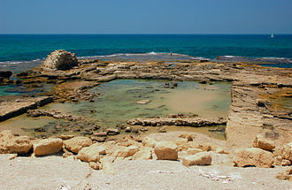 Roman concrete - Caesarea is the earliest known example to have used underwater Roman concrete technology on such a large scale.
