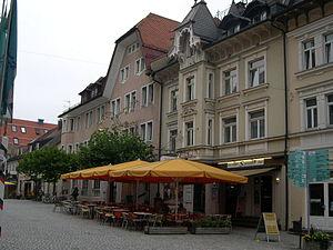 Isny im Allgäu - Image: Cafe in Isny im Allgau, Baden Wurttemberg, Germany