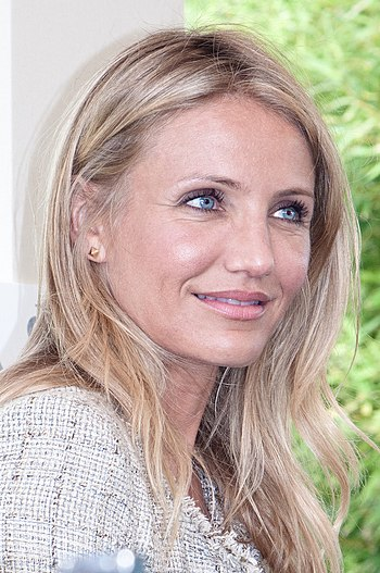 English: Cameron Diaz at Paris press conferenc...