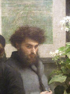 Camille Pelletan - Camille Pelletan by Henri Fantin-Latour (1872), musée d'Orsay. Detail of The Corner of the Table.