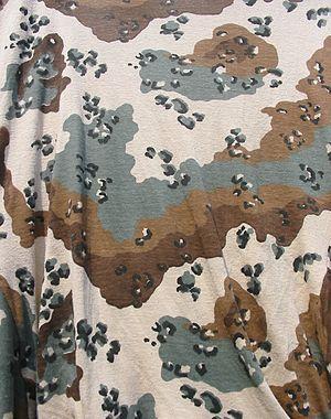 Camouflage desert pattern