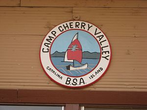 Camp Cherry Valley - Image: Camp Cherry Valley dining hall sign