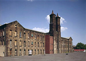 Cannelton Cotton Mill - Mill in 1981, before adaptive restoration