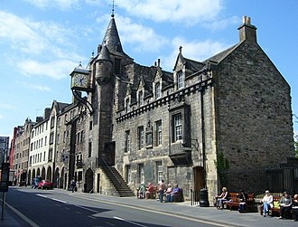The Canongate - The Canongate Tolbooth, erected in 1591