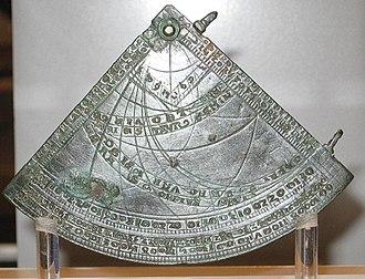 Canterbury Astrolabe Quadrant - The Canterbury Astrolabe Quadrant. British Museum, London.
