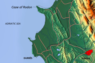 Cape of Rodon - Map