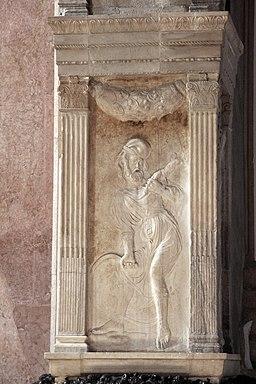 Cappella dello zodiaco, agostino di duccio, segni e pianeti 08,3 saturno 1