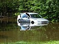 Car in flood water, Lower Earley - geograph.org.uk - 504343.jpg